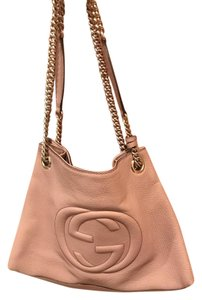 Gucci Soho Leather Tote in Pink