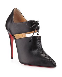 Christian Louboutin Caged Mesh Resillana Lace Black Pumps