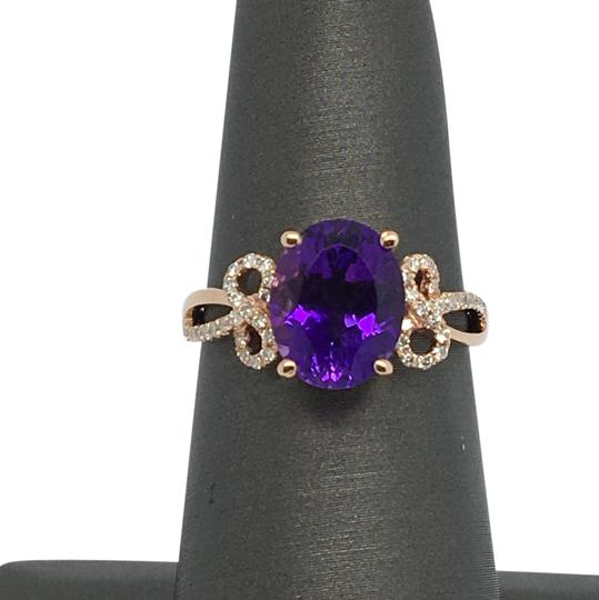 Preload https://img-static.tradesy.com/item/20763667/14k-rose-gold-natural-amethyst-and-diamond-ring-0-1-540-540.jpg