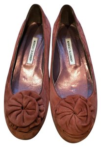 Manolo Blahnik Suede brown Flats