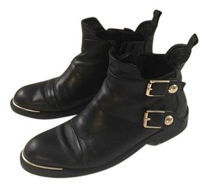 Louis Vuitton Leather Ankle Gold Hardware black Boots