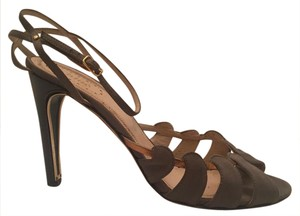 Chloé Open Toe olive and gold Sandals