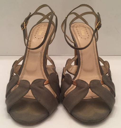 Chloé Open Toe olive and gold Sandals Image 1