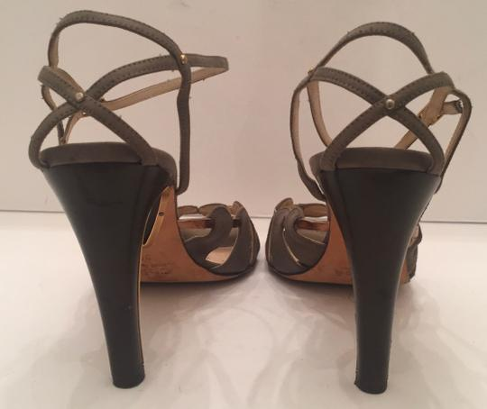 Chloé Open Toe olive and gold Sandals Image 2