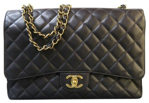 Chanel Caviar Cf Maxi Double Flap Shoulder Bag