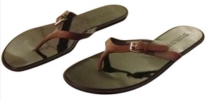 Burberry Cognac Sandals