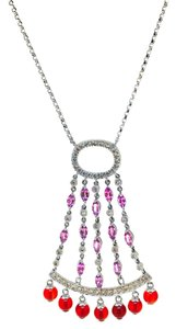 Other 14K White Gold Diamonds Sapphire Agate Necklace