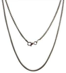 Other 925 Sterling Silver Rhodium Round Box Chain 22 Inches