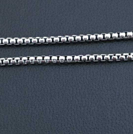 Other 925 Sterling Silver Rhodium Round Box Chain 22 Inches Image 2