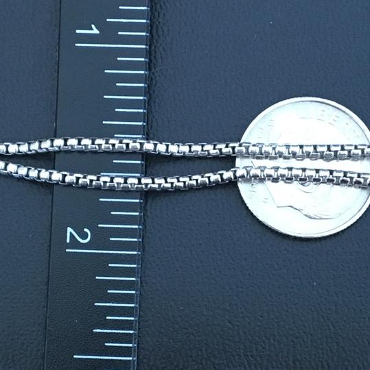 Other 925 Sterling Silver Rhodium Round Box Chain 22 Inches Image 3