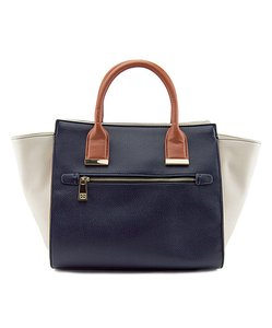 88 NATALIE Tote in NAVY AND CREAM