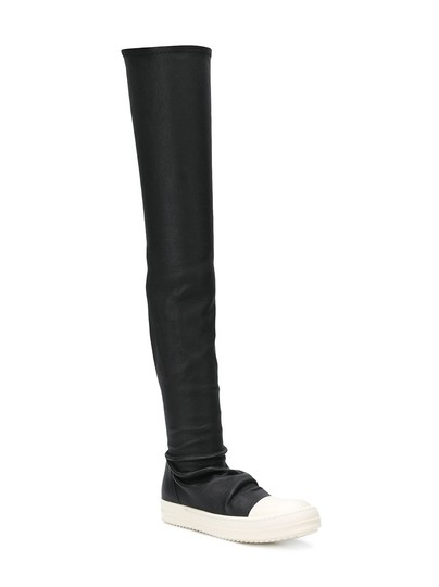 Preload https://img-static.tradesy.com/item/20764284/rick-owens-black-permanent-collection-thigh-high-slip-on-sneaker-bootsbooties-size-eu-37-approx-us-7-0-1-540-540.jpg