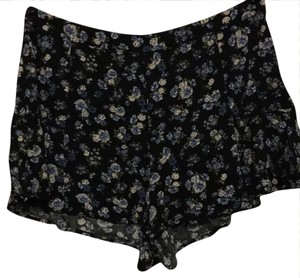 Forever 21 Dress Shorts Black with blue flowers