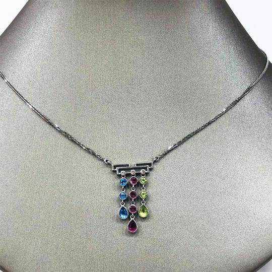 Other 14K White Gold Crystal Diamonds Necklace Image 1