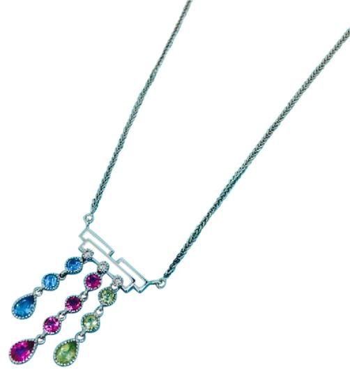 Other 14K White Gold Crystal Diamonds Necklace Image 2