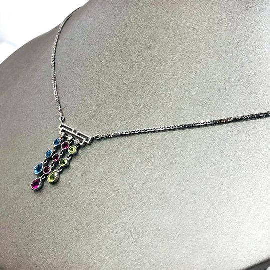 Other 14K White Gold Crystal Diamonds Necklace Image 5