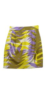 Tracy Reese Multi Color Print Silk Skirt