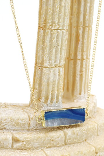 Ocean Fashion Fashion transparent natural stone golden necklace Pattern #6 Image 4