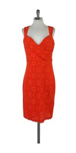 Laundry by Shelli Segal short dress Orange Sleeveless Floral Lace on Tradesy
