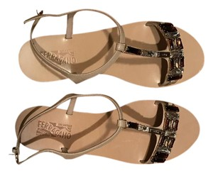Salvatore Ferragamo macadamia calf Sandals