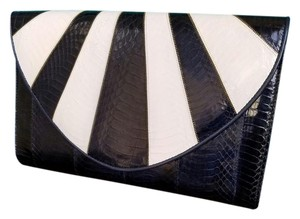 J. Renee #vintage #large #clutch #crossbody #snakeskin Blue & White Clutch