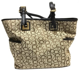 Calvin Klein Tote in tan and browns