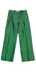 Max Mara Green Silk Pants