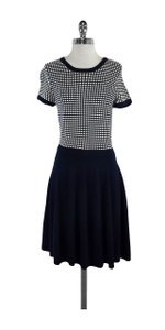 Shoshanna short dress Navy & White Checkered Short Sleeve on Tradesy
