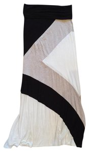 Arden B. Black White Gray Maxi Skirt white,black,gray