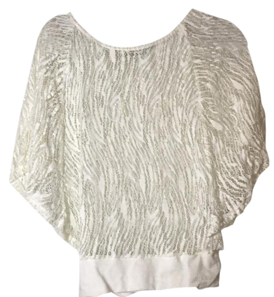 Anne Fontaine White With Banded Bottom Blouse Size 2 Xs Tradesy