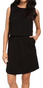 Trina Turk Perforated Exposed Zipper Zipper Dress