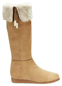 Jimmy Choo Dilla Tall Suede Over The Knee Shearling Tan Boots