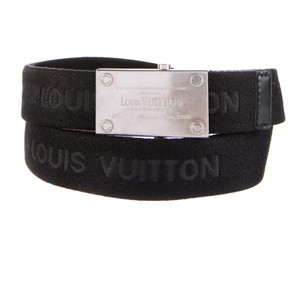 Louis Vuitton Black canvas Louis Vuitton Bengale logo print surplus belt