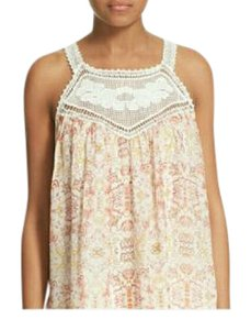 Joie Top Ivory and coral