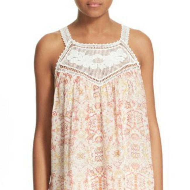 Joie Top Ivory and coral Image 1