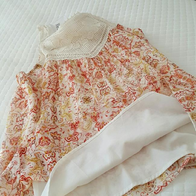 Joie Top Ivory and coral Image 5