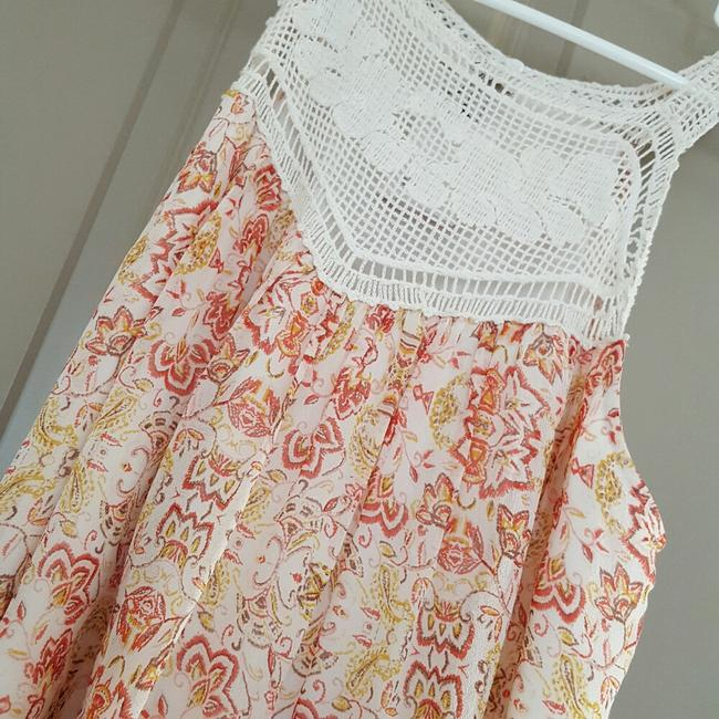 Joie Top Ivory and coral Image 6