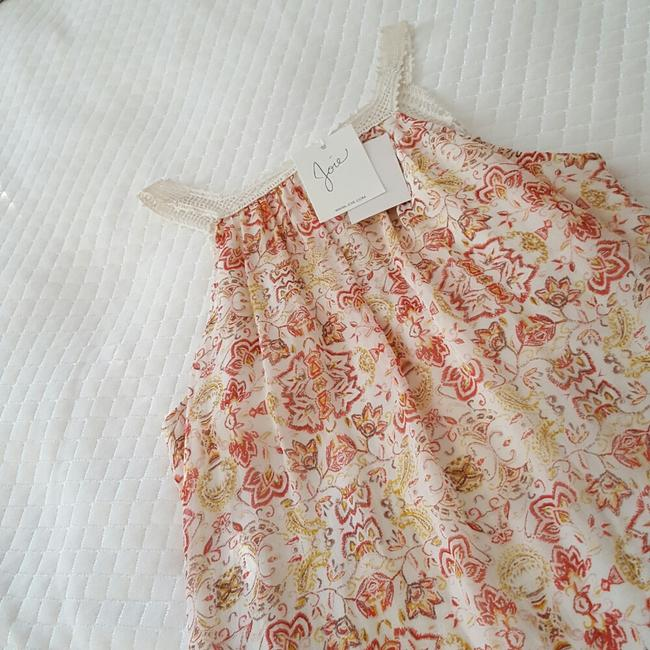 Joie Top Ivory and coral Image 9