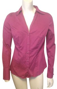 Ann Taylor French Cuff Size 4 Shirt Button Down Shirt Fuscia