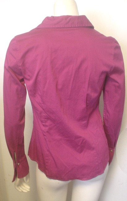 Ann Taylor French Cuff Size 4 Shirt Button Down Shirt Fuscia Image 1