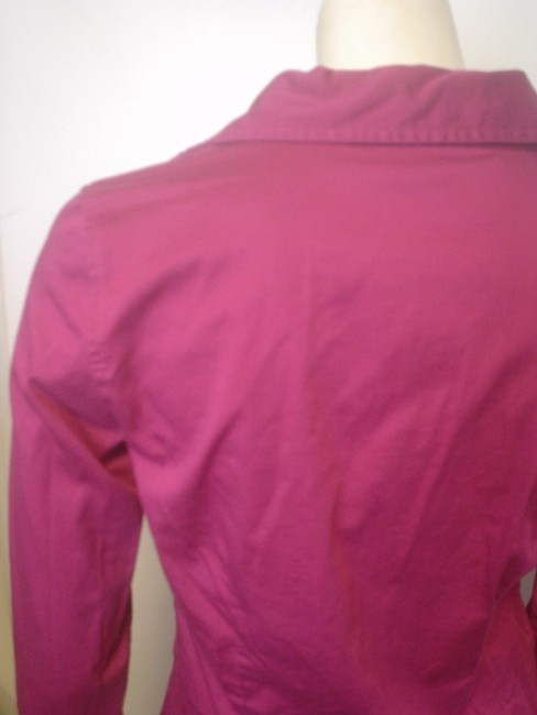 Ann Taylor French Cuff Size 4 Shirt Button Down Shirt Fuscia Image 4
