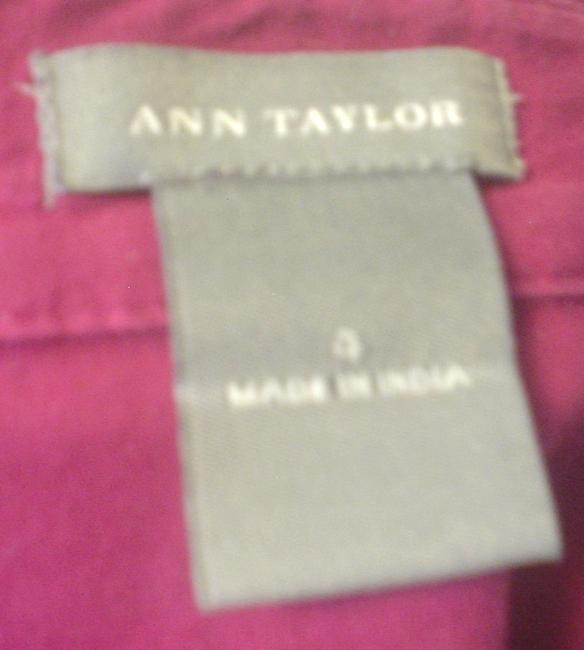 Ann Taylor French Cuff Size 4 Shirt Button Down Shirt Fuscia Image 5