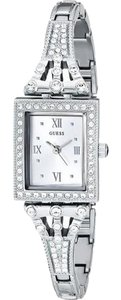 Guess W0430L1 Women's Silver Metal Bracelet With Silver Analog Dial
