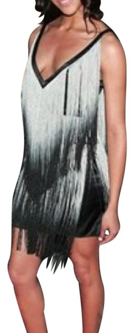 Preload https://img-static.tradesy.com/item/20765314/foley-corinna-black-grey-ombre-fringe-short-cocktail-dress-size-6-s-0-1-650-650.jpg