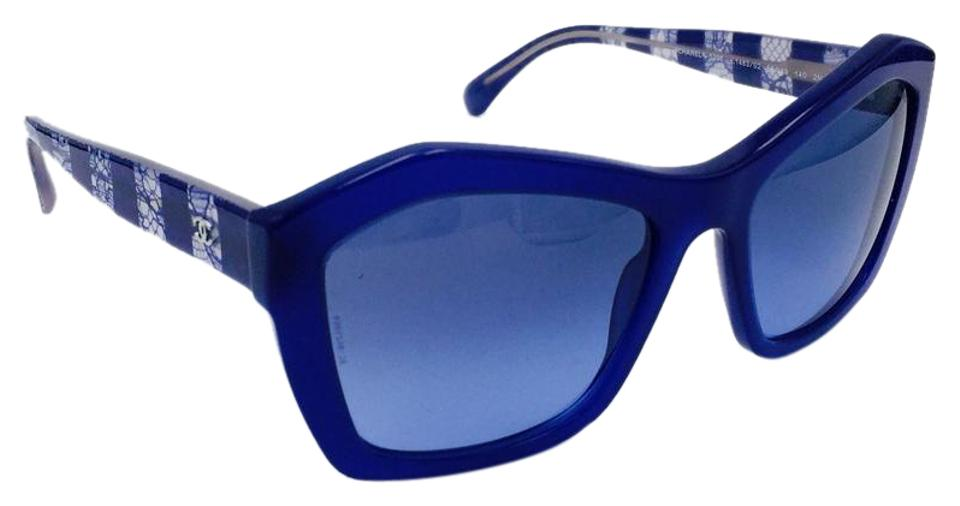 26011ec7ae Chanel Classic Lace Blue Butterfly Sunglasses w  Gradient Lens 5296 c.1483  S2 ...