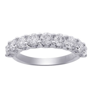 Avital & Co Jewelry 0.75 Carat Ladies 9 Stone Diamond Wedding Anniversary Band Ring 14k
