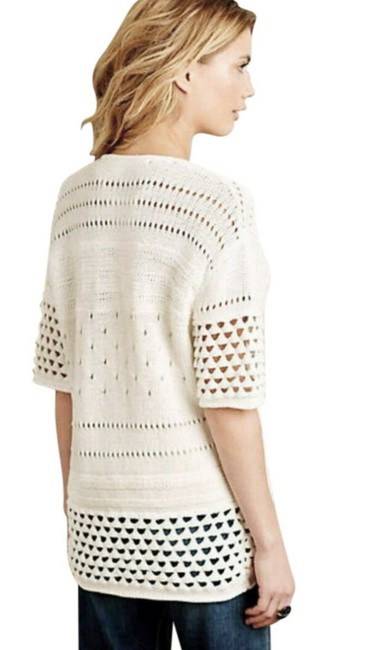Anthropologie Soft Comfy Oversized Soft Crochet Cotton Dreamy Sweater Image 4