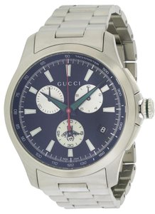 Gucci Guci G-Timeless Stainless Steel Chronograph Mens Watch YA126267