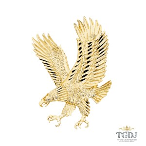 Top Gold & Diamond Jewelry Eagle Pendant, 14K Yellow Gold Eagle Pendant