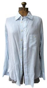 Rag & Bone & Summer Shirt Tunic Cover-up Button Down Shirt Blue